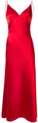 Dalood long v-neck dress