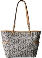 Calvin Klein Monogram Chain Tote Tote Handbags