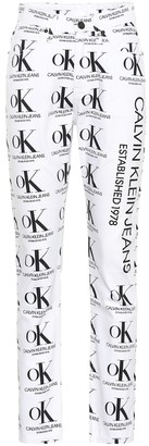 Calvin Klein Jeans Est. 1978 Printed high-rise straight jeans