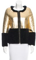 Jocelyn Metallic Reversible Shearling Jacket