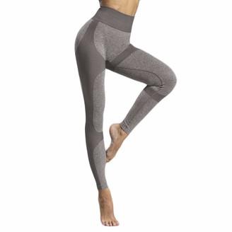 Kolila Women's Pants kolila Women's Soft High Waisted Yoga Pants Full-Length Leggings Tummy Control Workout Running 4 Way Stretch Yoga Pant (001Coffee M)