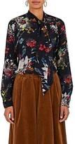 Tomas Maier Women's Floral Silk Tieneck Blouse