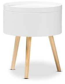 Baxton Studio Mid-century Nightstand with Removable Top