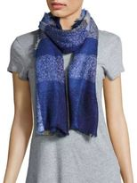 Fraas Plaid Frayed Scarf