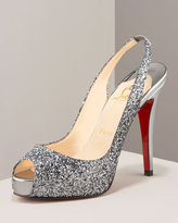 Glitter Sling Back Heel
