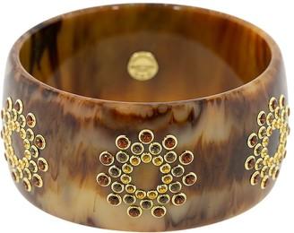 Mark Davis 18kt Yellow Gold And Quartz Bangle Bracelet