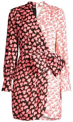 Rebecca Vallance Twin Hearts Wrap Mini Dress