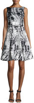 Theia Sleeveless Printed Fit & Flare Dress