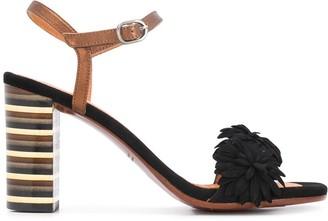 Chie Mihara Balis floral-applique sandals
