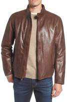 Andrew Marc Calfskin Leather Moto Jacket