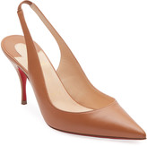 Christian Louboutin Clare Sling 80 Napa Red Sole Pumps