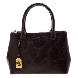 Lauren Ralph Lauren Burgundy Leather Handbags