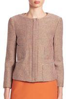 Armani Collezioni Multi Tweed Zip Jacket