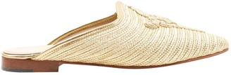 Carrie Forbes Gold Cloth Sandals