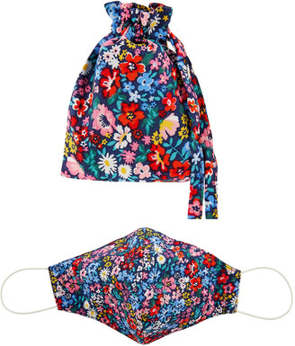 Under Armour Floral Quilted Face Mask with Storage Bag