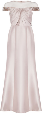 Adrianna Papell Illusion Mikado Dress