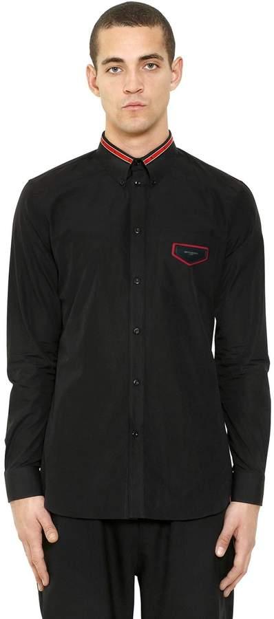 Givenchy Iconic Collar Band Cotton Poplin Shirt