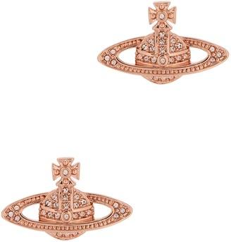 Vivienne Westwood Mini Bas Relief Rose Gold-tone Earrings