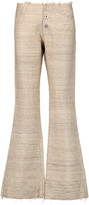 Marques Almeida Marques' Almeida Frayed raw silk bootcut pants