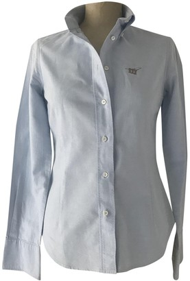 Henry Cotton Blue Cotton Top for Women