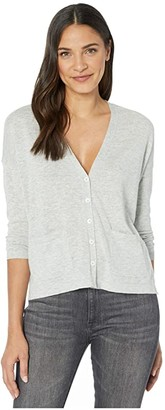 Lilla P Button Front Cardigan Sweater (Smoke) Women's Clothing