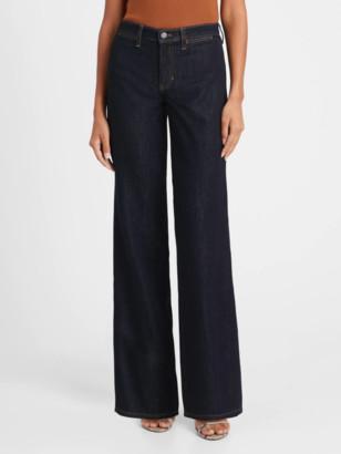 Banana Republic High-Rise Wide-Leg Zipper Pocket Jean