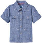 Andy & Evan Schiffli Shirt (Toddler/Kid) - Navy 2T