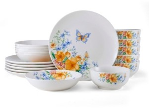 Pfaltzgraff Studio Nova Anna 18 Piece Dinnerware Set, Service for 6
