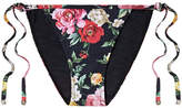 Dolce & Gabbana Floral-print Bikini Briefs - Black