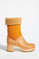 Thumbnail for your product : Swedish Hasbeens Nature Clog Boots By in Yellow Size 37