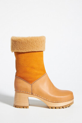 Swedish Hasbeens Nature Clog Boots By in Yellow Size 37