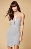 Selfie Leslie Ribbed Knit Asymmetrical Hem Dress