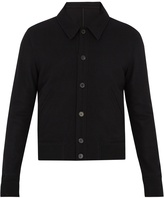 Ami Point collar wool-blend bomber jacket