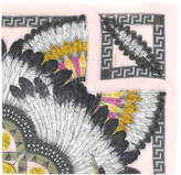 Versace feather print scarf