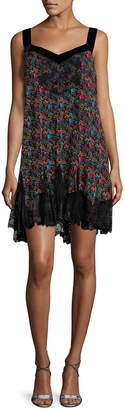 Anna Sui Ditsy Print Slip Dress