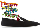 Joshua Sanders LA Pom-Pom Ankle Wrap Sneakers