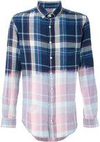 BLK DNM contrast checked shirt - men - Cotton - M