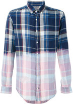 BLK DNM contrast checked shirt - men - Cotton - S