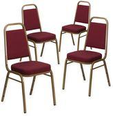 Flash Furniture Hercules Banquet Chair in Burgundy (Set of 4)