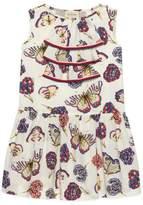 Gucci Children's butterflies and flowers print cotton dress