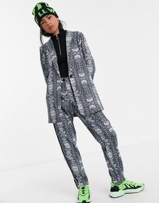 Kaffe snake print suit trousers