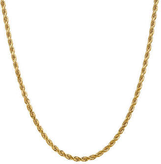14K Gold Solid Rope Chain Necklace Family