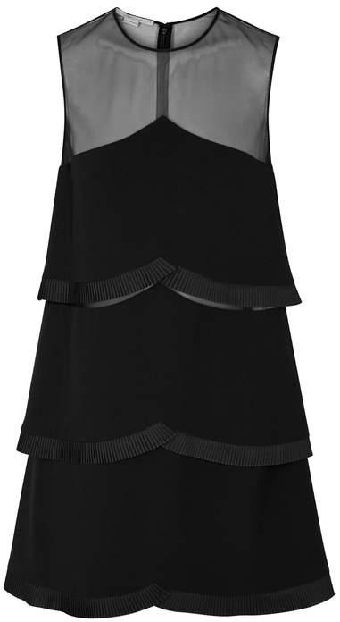 Stella McCartney Black Pleated-trimmed Cady Dress