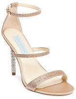 Betsey Johnson Kelyr Triple Strap Glitter Dress Sandals