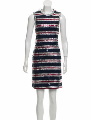 Lanvin Sequin-Embellished Mini Dress w/ Tags Navy