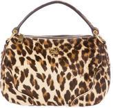 Prada Cavallino Leopard Hobo
