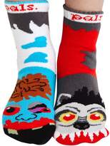 Pals Socks Kids Werewolf & Zombie Socks - Mismatched Unlikely Friends!