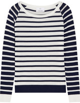 Allude Striped Wool Sweater - Midnight blue