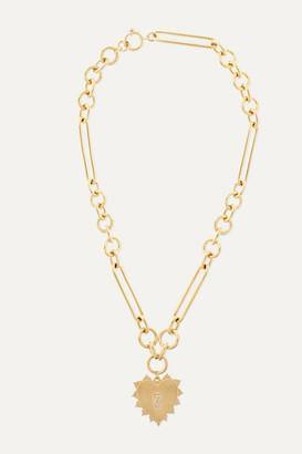 Foundrae Heart 18-karat Gold Diamond Necklace - one size