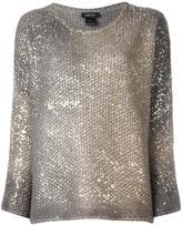 Avant Toi metallic knit pullover